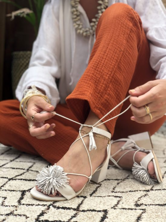 Palazzo terra cotta fait main en France La Mode de Mélissa - Made in France mode éthique marque écoreponsable
