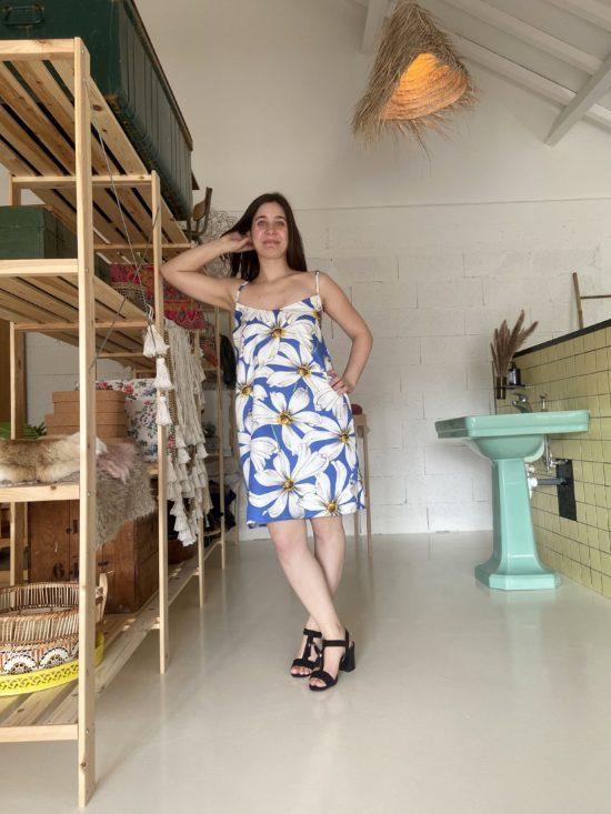 robe à bretelles fleurie éthique - La Mode de Mélissa - Made in France - Couture artisan