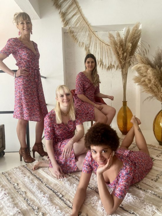 robe cache coeur fleurie rose - Robe éthique - La Mode de Mélissa - Marque éthique - pour toutes les morphologies