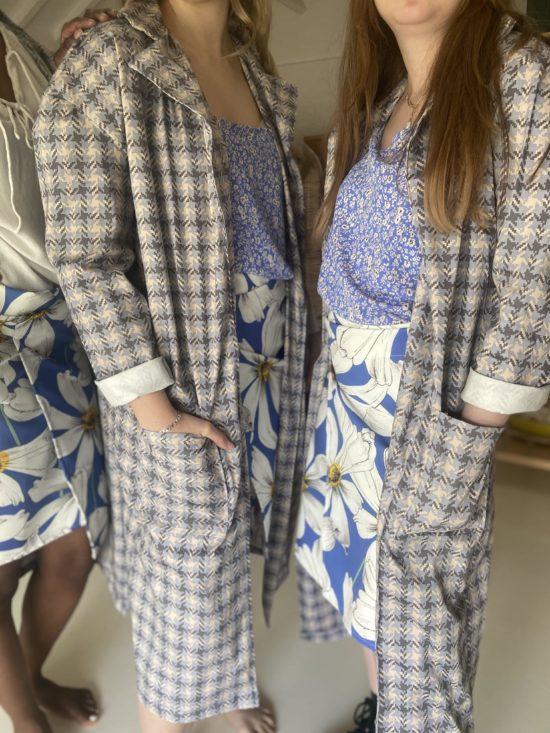 robe plumetis bleu pastel éthique - La Mode de Mélissa - Made in France - mode éthique et écoresponsable